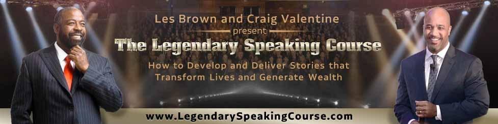 Legendary Speaking Course Banner